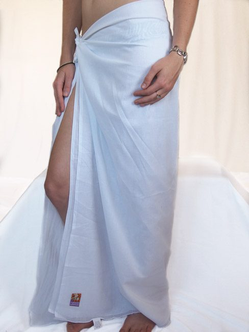cotton sarong or beach wrap. Plain white spa special. great beach coverup