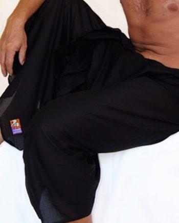 cotton sarong or beach wrap. Plain black mens sarong. great beach coverup
