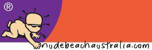 Nude Beach Australia Baby Sarong Logo
