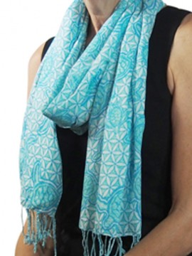 Turtle T2 Turquoise Cotton Scarf