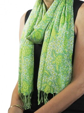 Turtle T2 Lime Cotton Scarf