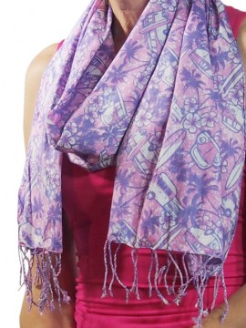 Combi Orchid Cotton Scarf
