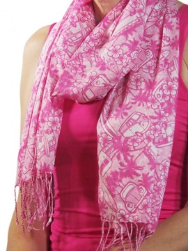 Combi Cherry Cotton Scarf