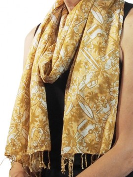 Combi Sand Cotton Scarf