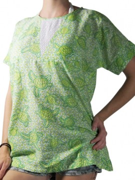 Lime Cotton beach Top