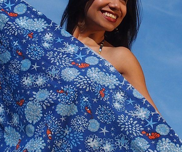 Sarong reef blue