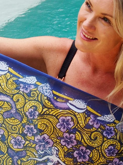 Australian sarongs mermaid mustard